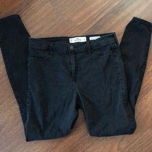 Holister Black High Rise Skinny Jeans